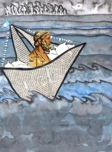 Arquímedes embarcado. Imagen extraída de www.divulgon.com.ar